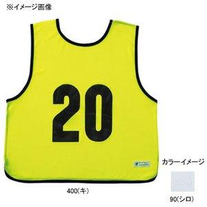 【送料無料】EVERNEW(エバニュー) エコエムベスト JR ビブス 17 90(シロ) EKA906