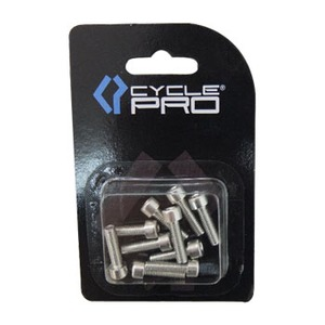 CYCLE PRO(サイクルプロ) アルミM5カラーボルト シルバー CP-BO115-10