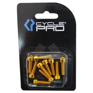 CYCLE PRO(サイクルプロ) アルミM5カラーボルト ゴールド CP-BO115-10