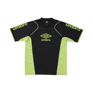 UMBRO(アンブロ) S/S プラクテイスシャツ M BAPG(ブラックxAグリーンxAグリーン) UBS7230