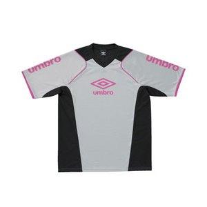 UMBRO(アンブロ) S/S プラクテイスシャツ O SLV(シルバーxブラックxSピンク) UBS7230