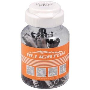 ALLIGATOR(アリゲーター) 5mmノーズ付きアルミアウターキャップ LY-HPA08 シルバー