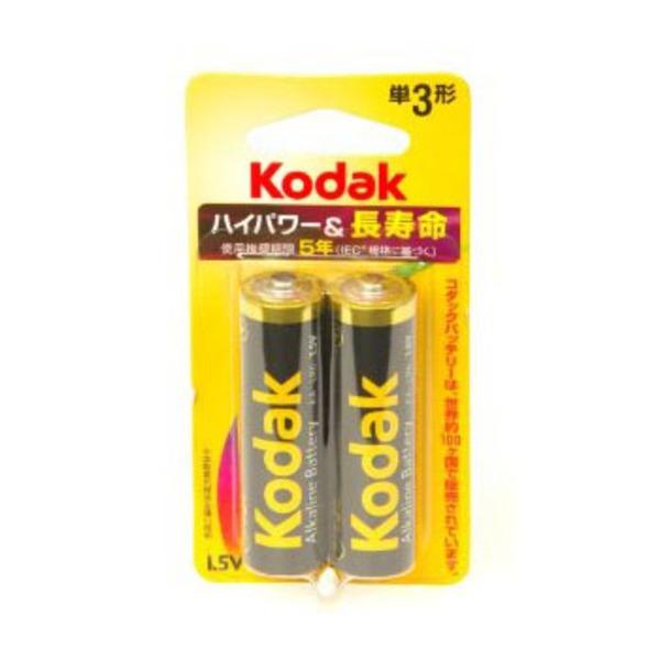 コダック(KODAK) アルカリ単三 2本パック LR6-2BK 電池&ソーラーバッテリー