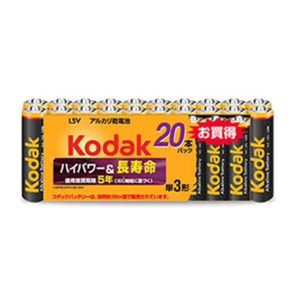 コダック(KODAK) アルカリ単三 20本パック LR6-20BK 電池&ソーラーバッテリー