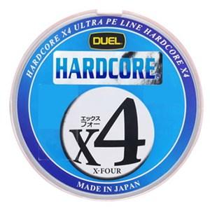 デュエル(DUEL) HARDCORE X4(ハードコア エックスフォー) 200m 1.2号/20lb 10mx5色 H3248
