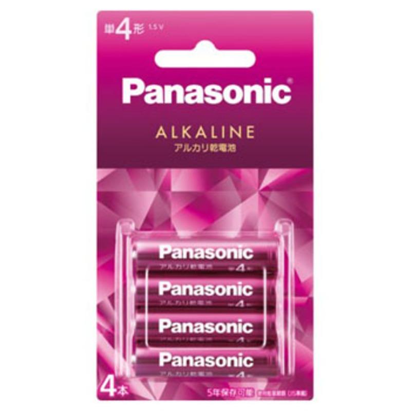 パナソニック(Panasonic) アルカリ乾電池 単4形 4本パック バイオレットピンク LR03LJR/4B