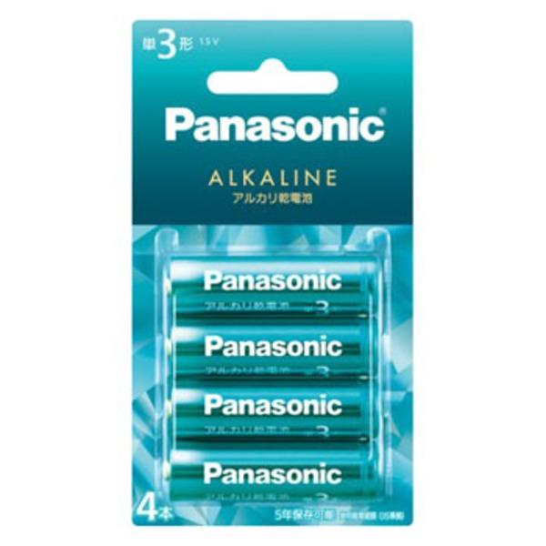 パナソニック(Panasonic) カラーアルカリ乾電池 単3形 4本パック LR6LJG/4B 電池&ソーラーバッテリー