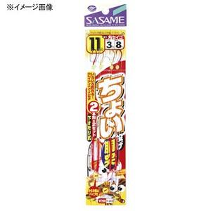 ささめ針(SASAME) ちょい投げ胴突丸セイゴ 鈎13/ハリス3 赤×金 K-013