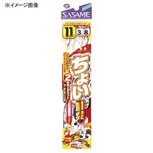 ささめ針(SASAME) ちょい投げ胴突丸セイゴ 鈎14/ハリス4 赤×金 K-013