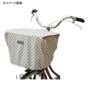 MARUTO(マルト) ファッション前バスケットカバー・ファスナー付(D-4FMT) 水玉xホワイト YD-2146