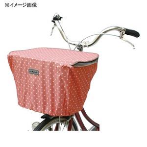 MARUTO(マルト) ファッション前バスケットカバー・ファスナー付(D-4FMT) 水玉xオレンジ YD-2149
