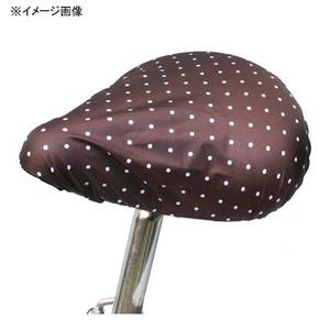 MARUTO(マルト) 簡単雨よけサドルカバー・軽快車用(SC-MT) 水玉×ブラウン YD-2161