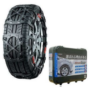 【送料無料】カーメイト(CAR MATE) 非金属タイヤチェーン バイアスロン・クイックイージー 簡単取り付け QE10L ブラック