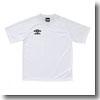 UMBRO(アンブロ) S/Sプラクティスシャツ XA WBK(ホワイト×ホワイト×ブラック) UBS7037A
