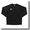 UMBRO(アンブロ) L/Sプラクティスシャツ XA BLK(ブラック×ブラック×ホワイト) UBS7037LA