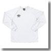 UMBRO(アンブロ) L/Sプラクティスシャツ XO WBK(ホワイト×ホワイト×ブラック) UBS7037LA