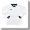 UMBRO(アンブロ) L/Sプラクティスシャツ O WNV(ホワイト×ネイビー×ネイビー) UBS7037LA