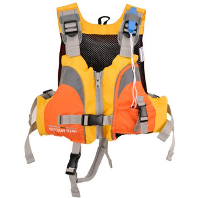 キャプテンスタッグ(CAPTAIN STAG) ベストフローツ 幼児用 イエロー×オレンジ MC-2501