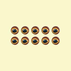 カハラジャパン(KAHARA JAPAN) リアルフロッグアイ 右目(BABY KAHARA FROG用) 直径4.5