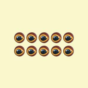 カハラジャパン(KAHARA JAPAN) リアルフロッグアイ 右目(KAHARA FROG用) 直径5.5