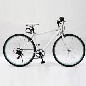 【送料無料】トップワン(TOPONE) MCR266-29-WH 26インチクロスバイク鍵ライト付 ホワイト