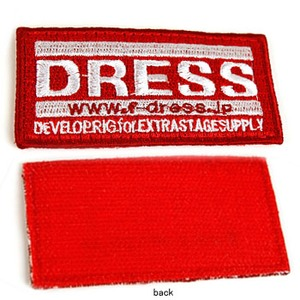 ドレス(DRESS) ワッペンベルクロ付き LD-OP-0110 ワッペン