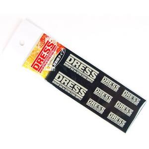 ドレス(DRESS) ロゴステッカー SS(反射) ホワイト LD-OP-0031