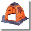 ワンタッチフィッシングテント(ワカサギテント) ワカサギ釣りに最適 簡単設営 3人用 フラッシュオレンジ
