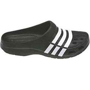 adidas(アディダス) デュラモ クロッグ 23.5cm (G62033)ブラックxホワイトxホワイト AJP-G62033