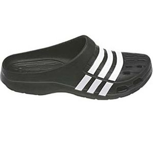 【送料無料】adidas(アディダス) デュラモ クロッグ 25.5cm (G62033)ブラックxホワイトxホワイト AJP-G62033