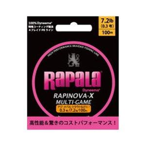 Rapala(ラパラ) ラピノヴァ・エックス マルチゲーム 100m 0.3号 ピンク RLX100M03PK