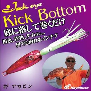 ハヤブサ(Hayabusa) ジャックアイ キックボトム 100g 7 アカピン FS422