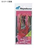 ハヤブサ(Hayabusa) 無双真鯛 フリースライド ドラゴンカーリー ラバーセット SE135 タイラバネクタイ・トレーラー