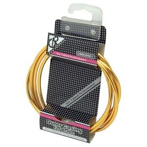 GIZA PRODUCTS(ギザプロダクツ) CBB02601 ブレーキ アウター ケーブル 1.8m 1.8m CP ゴールド