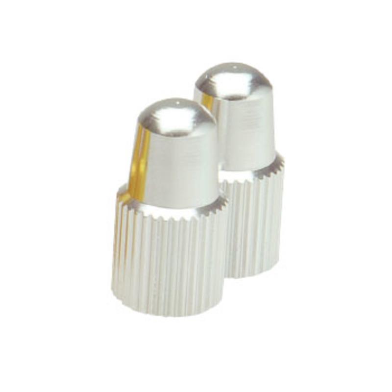 GIZA PRODUCTS(ギザプロダクツ) VLC03801 仏式バルブ用バルブ キャップ(同色2個セット) シルバー