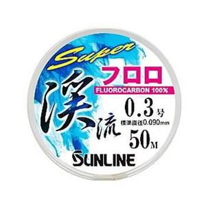 サンライン(SUNLINE) スーパー渓流フロロ 50m HG 渓流用50m