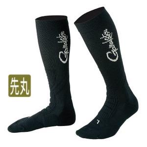 がまかつ(Gamakatsu) 先丸ハイソックス F ブラック 53353-13-0