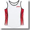 アシックス(asics) XT2032 W'Sランニングシャツ M 0123(ホワイト×レッド)