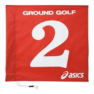 アシックス(asics) 旗1色タイプ 3 23(レッド) GGG065