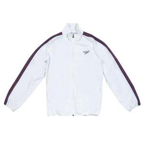 【送料無料】SPEEDO(スピード) GW-SD12F10 モノグラム ウインドジャケット Men's SS W(ホワイト)