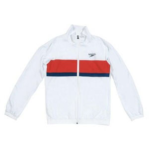 【送料無料】SPEEDO(スピード) GW-SD12F11 カラーブロック ウインドジャケット Men's XO W(ホワイト)