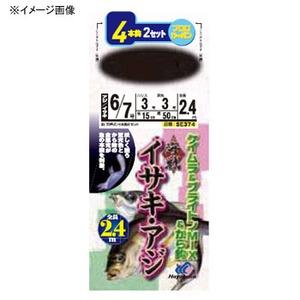 ハヤブサ(Hayabusa) 海戦イサキ・アジ ケイムラ&ブライトンMIX&から鈎 4本鈎2セット SE374 仕掛け