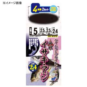 ハヤブサ(Hayabusa) 海戦イサキ・アジ ケイムラ&ブライトンMIX 4本鈎2セット 鈎/7ハリス/4 SE375
