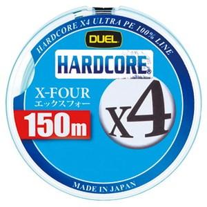デュエル(DUEL) HARDCORE X4(ハードコア エックスフォー) 150m 1.5号/25lb ミルキーグリーン H3277-MG