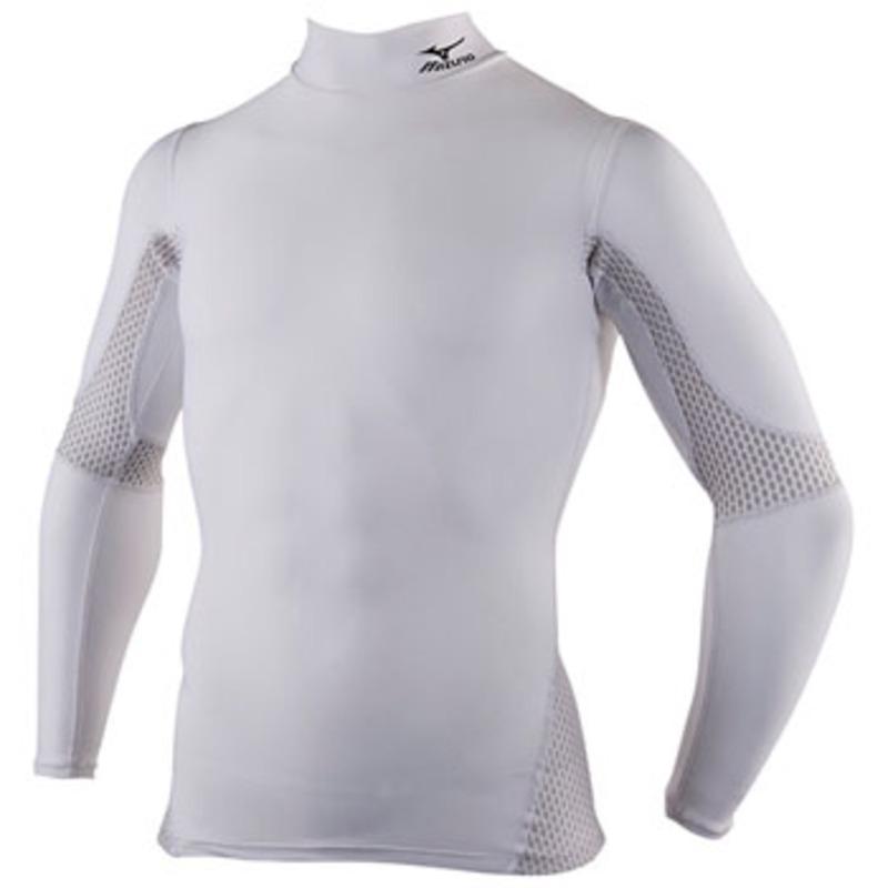 ミズノ(MIZUNO) A60BS300 バイオギアハイネック長袖シャツ(姿勢ナビ) Men's S 01(ホワイト)