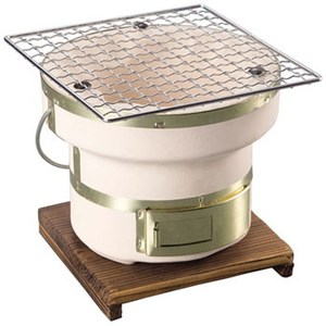 BUNDOK(バンドック)俺用七輪 丸 木台付き 炭火焼き用 ミニ 1−2人用 15cm
