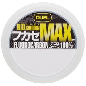 デュエル(DUEL) HDカーボンフカセ MAX 50m 0.8号 ナチュラルクリアー H3318