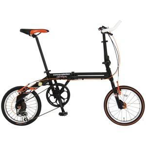 【送料無料】ドッペルギャンガー(DOPPELGANGER) 111 Roadfly(ロードフライ) 【16インチ 折りたたみ自転車】 16インチ カーボンブラックxフラッシュオレンジ