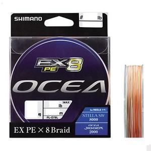 PL−O78L OCEA EX8 PE(オシア EX8 PE) 300m 5号/84lb O×ピュアWH×モス×イエロー×オシアブルー)
