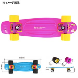 【送料無料】D.O.D(ドッペルギャンガーアウトドア) アウトドアスケートボード SB1-77(SOFT WHEELS) ピンク